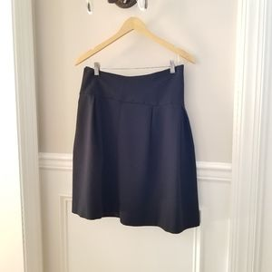 Zara Basics Black Flounce skirt in large